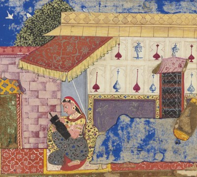 A folio from the Gita Govinda: