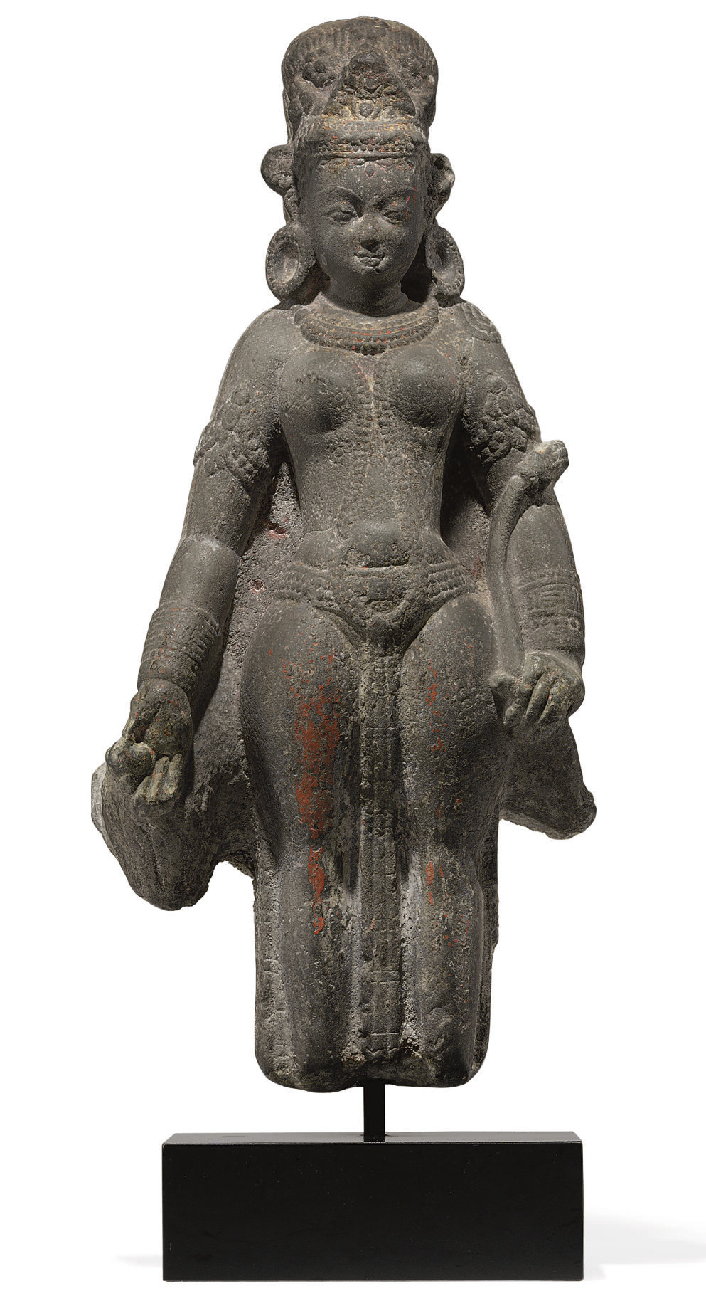 A sandstone figure of Devi