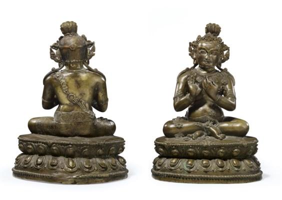 An inlaid bronze figure of Mah