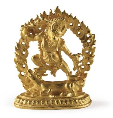 A small gold figure of Yamanta