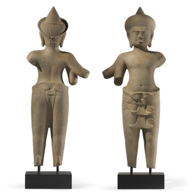 A sandstone figure of Vishnu