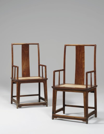 A PAIR OF HUANGHUALI SOUTHERN
