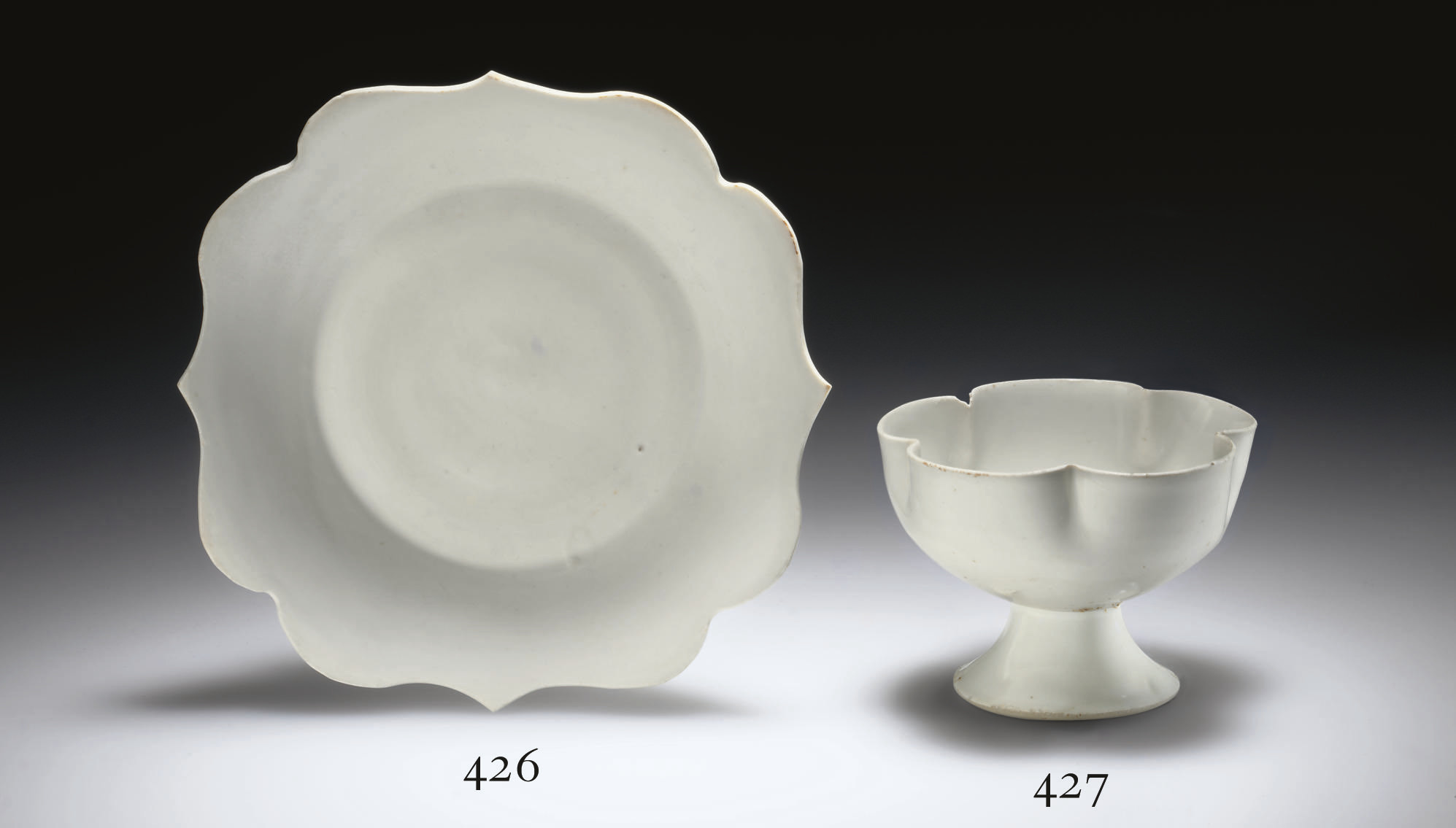 A DING-TYPE BRACKET-LOBED BOWL