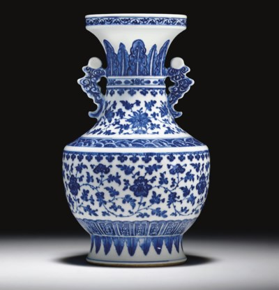 A MING-STYLE BLUE AND WHITE VA