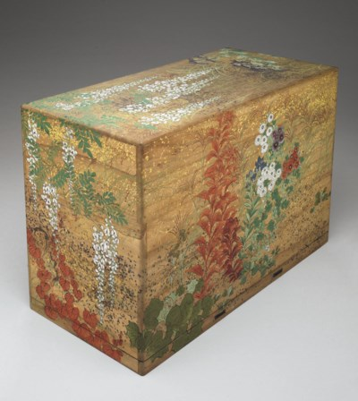 A Painted Wood Inro Box (Inro