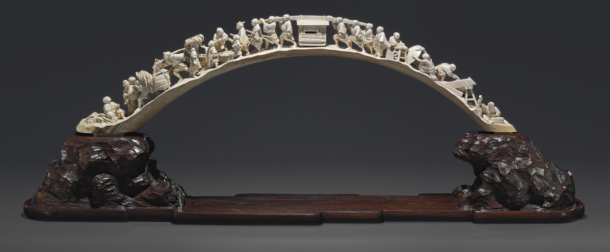A Massive Ivory Table Ornament