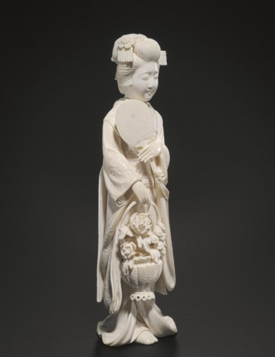An Ivory Model of a Young Woma