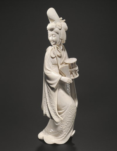 An Ivory Model of a Dancer**