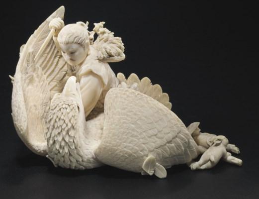 An Ivory Model of a Hunter Kil