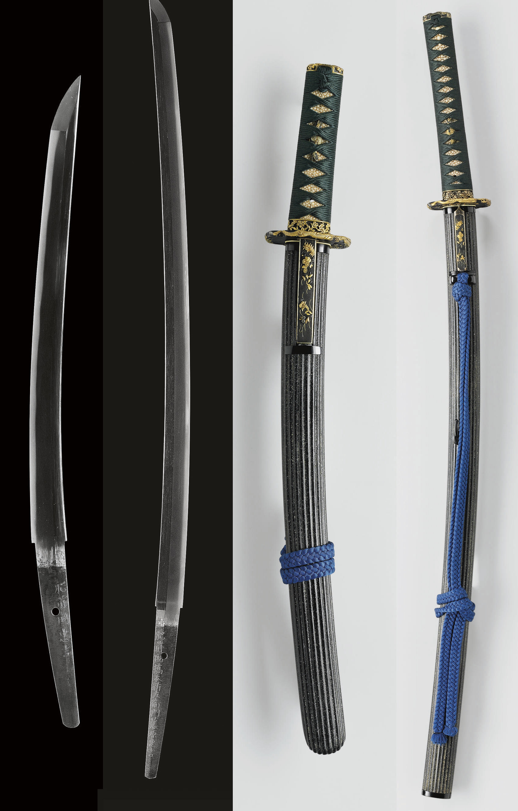 A Hizen Daisho Pair of Swords with Mounts