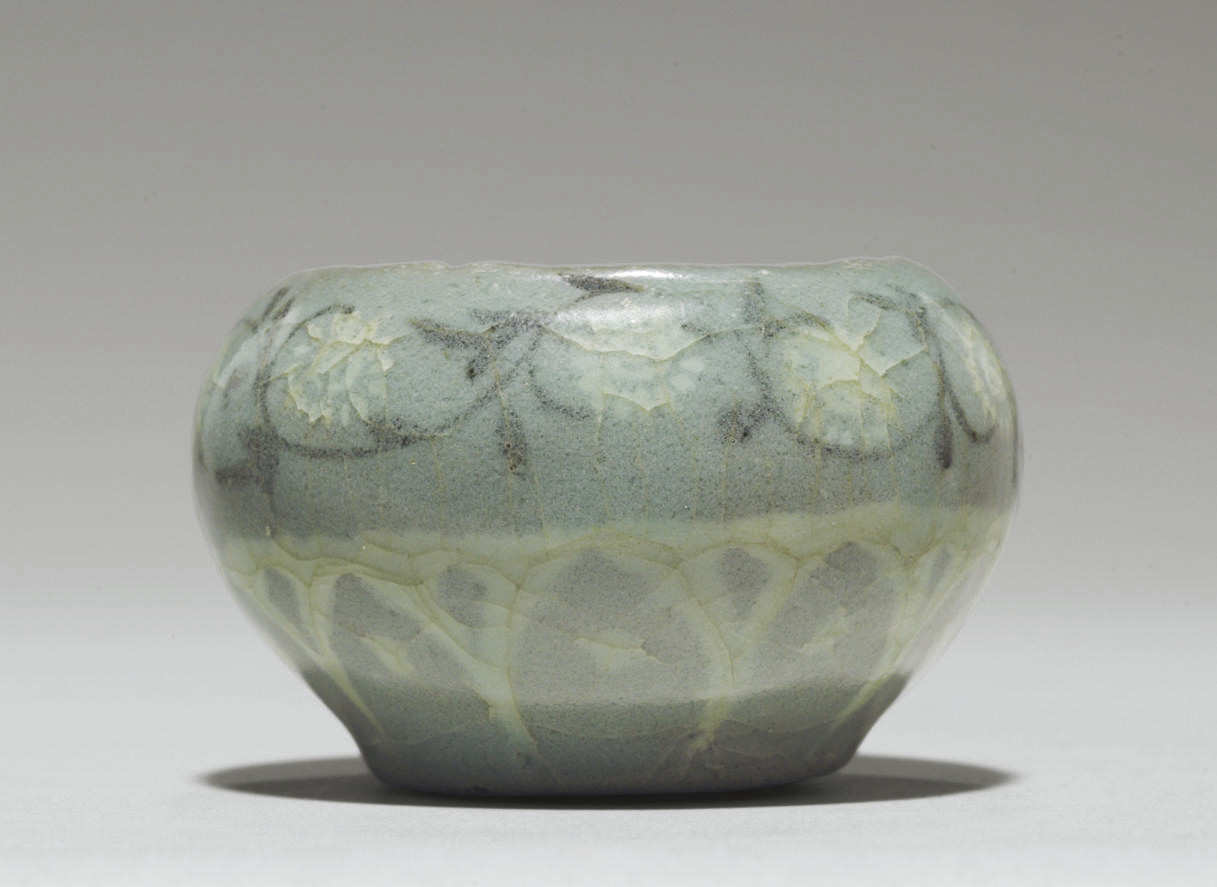 A Small Inlaid Celadon Cosmeti