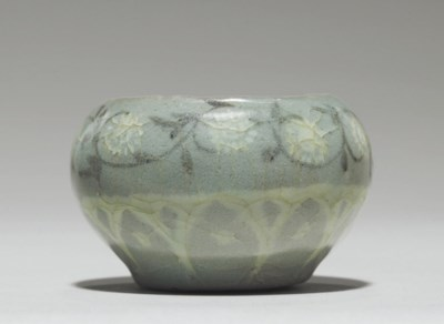 A Small Inlaid Celadon Cosmeti