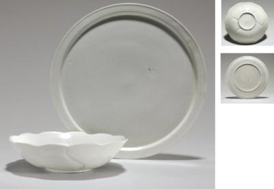 A White Porcelain Foliate Bowl