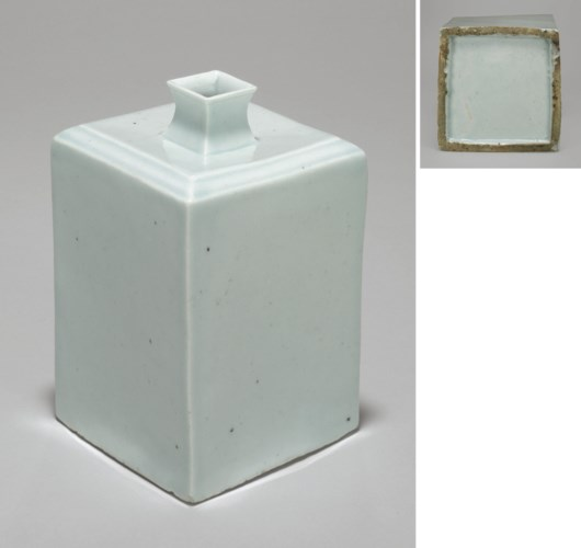 A White Porcelain Square Bottl
