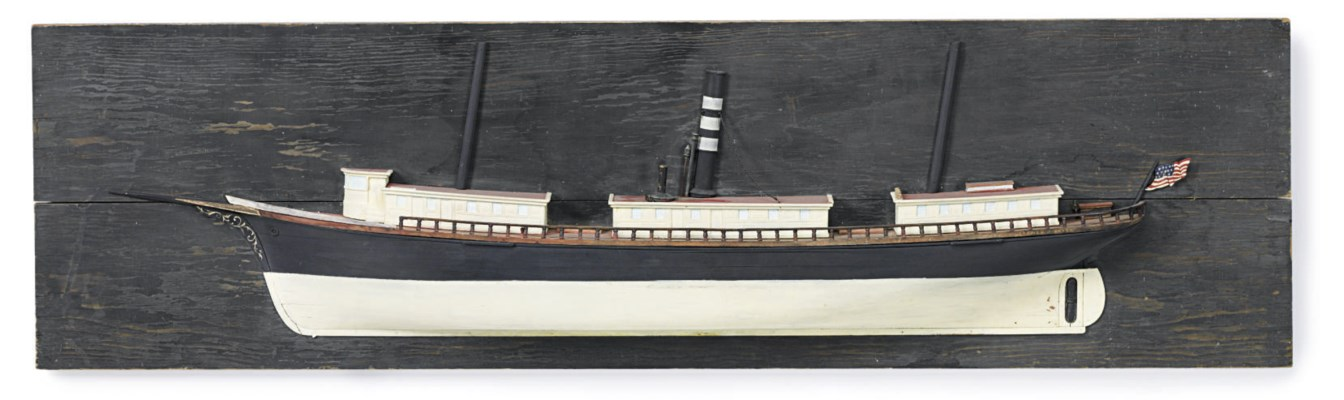 A half model of the sail-steam