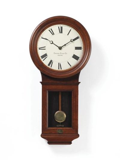 A pendulum wall clock in a mah