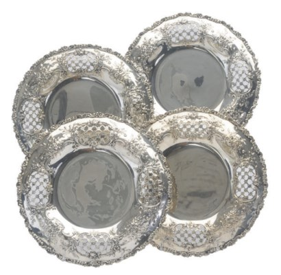 FOUR AMERICAN SILVER PLATES WI
