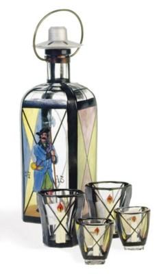 AN AUSTRIAN GLASS CORDIAL PART