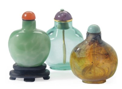 A GROUP OF THREE CHINESE GLASS