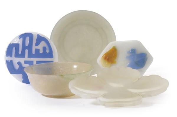 A GROUP OF CHINESE SNUFF DISHE