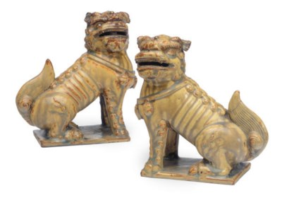 A PAIR OF CHINESE YELLOW-GLAZE