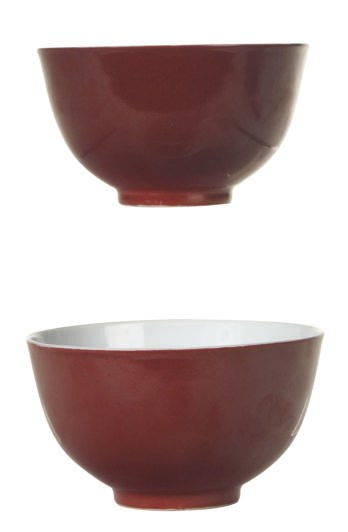 A PAIR OF CHINESE COPPER RED-G
