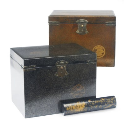 TWO JAPANESE LACQUERED BOXES W
