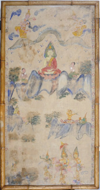 A THAI SCROLL PAINTING OF BUDD