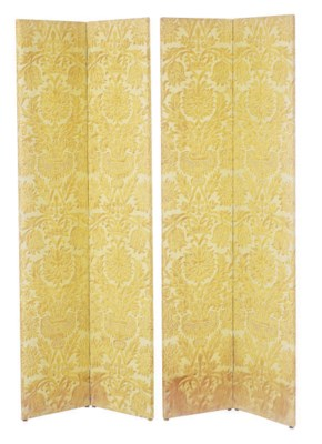 A PAIR OF FORTUNY FABRIC COVER