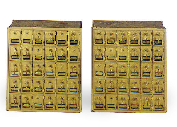 A PAIR OF MAILBOXES,