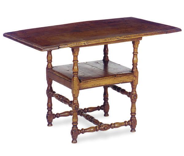 AN OAK CHAIR-TABLE,