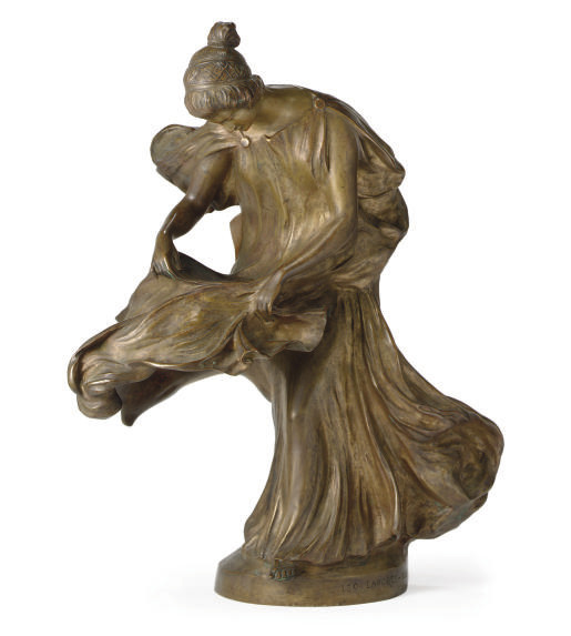 A BRONZE FIGURAL TABLE LAMP,