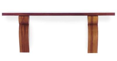 A MAHOGANY CONSOLE TABLE,
