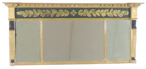 A GILTWOOD, PAINTED, AND PART-