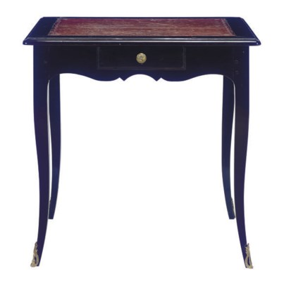 A LOUIS XVI EBONIZED TABLE,