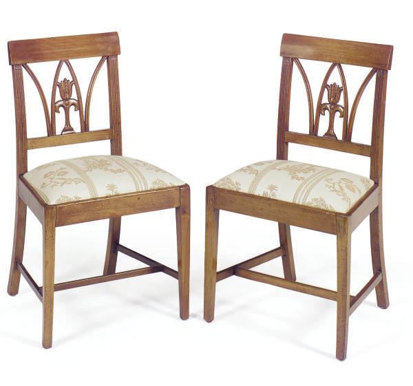 A SET OF FOUR FRENCH BEECHWOOD