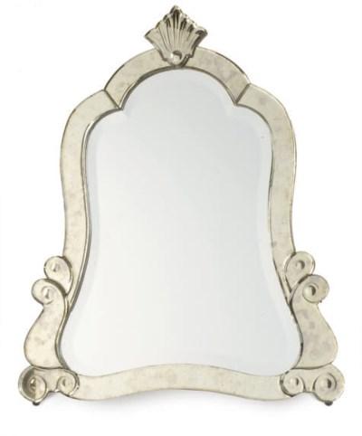 A VENETIAN GLASS DRESSING MIRR