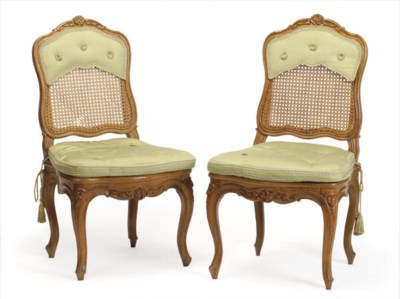 A SET OF SIX LOUIS XV FRUITWOO