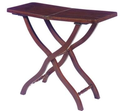 A FRENCH MAHOGANY FOLDING TABL