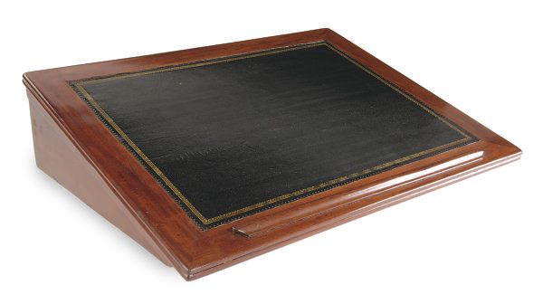 A FRENCH MAHOGANY FOLIO STAND,