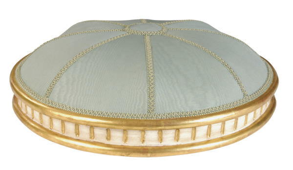 A PAINTED AND PARCEL-GILT BALD