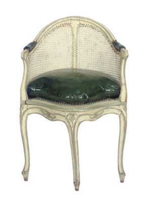 A LOUIS XV CREAM-PAINTED AND C