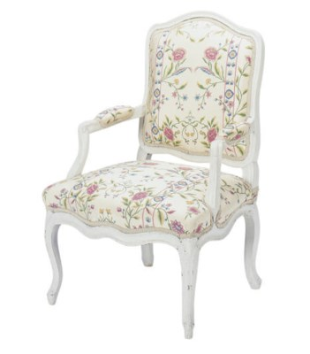 A LOUIS XV CREAM-PAINTED AND F