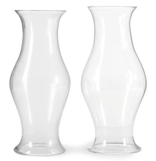 FOUR GLASS HURRICANE SHADES,