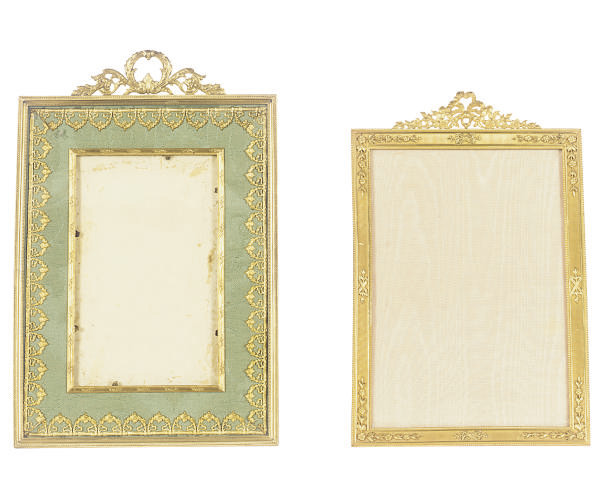 TWO ORMOLU TABLE-TOP PICTURE F