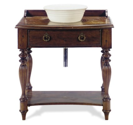 A STAINED FRUITWOOD WASHSTAND,