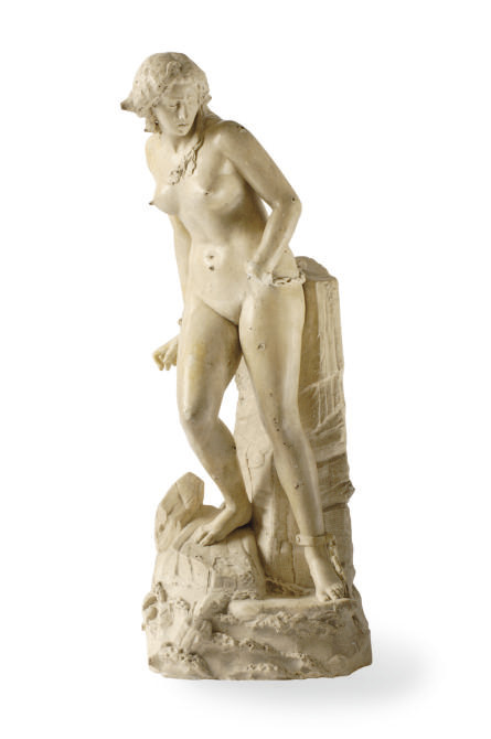 A PAINTED PLASTER FIGURE, 'ANG