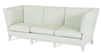 A MOHAIR AND KNOWLE UPHOLSTERE