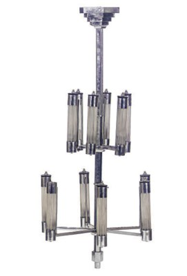 A CHROMED-METAL AND GLASS TWEL