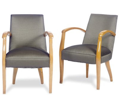 A PAIR OF FRENCH BIRCH AND HOR